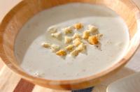 ソラ豆の冷製スープ