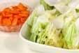 白菜のからし和えの下準備1