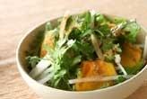 菊菜と大根のサラダ