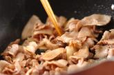 豚肉とモヤシのガーリックしょうゆ炒めの作り方1