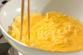 オムレツのトマトソースがけの作り方1
