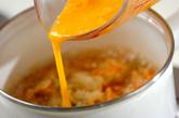 かき揚げの卵とじの作り方2