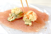 鶏ささ身のポテトサラダ巻きの作り方1