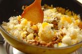 納豆ジャコの和風オムライスの作り方2