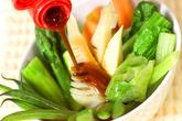 温野菜オイスターソースの作り方3