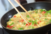 帆立オムレツ丼の作り方3