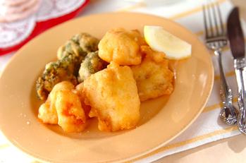 白身魚のチーズフリット