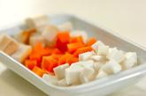 ほんのりユズの根菜汁の作り方1