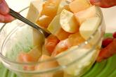 桃のカプレーゼの作り方2
