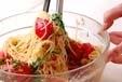 トマトの冷パスタの作り方4