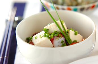 豆腐とタコのサラダ