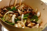 牛肉とキノコのソース炒めの作り方2