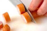 押し麦とソーセージのスープの下準備2