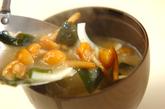 くずし豆腐のゴマみそ汁の作り方2
