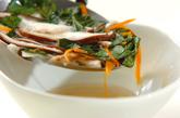 ザク切りモロヘイヤのスープの作り方3