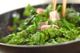 菜の花のベーコン炒めの作り方1