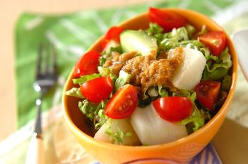 白菜と梨のゴマダレサラダ