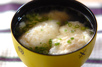 落とし大和芋のスープ