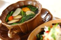 ゴボウのコンソメスープ
