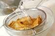 厚揚げと青菜の煮物の下準備1