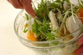 デコポンと水菜のヨーグルトサラダの作り方3