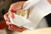 豆腐のゴマ酢和えの下準備1