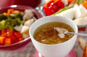 蒸し野菜とバーニャカウダ