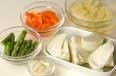 イカと野菜のパン粉焼きの下準備7