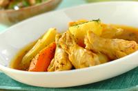 手羽元とゴロゴロ野菜のカレースープ煮