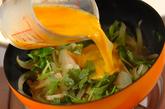 玉ネギの卵とじの作り方2