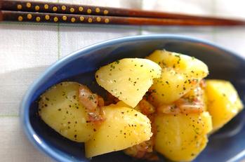 粉ふきイモの塩辛バター