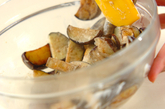 シイタケとナスのゴママヨ和えの作り方3