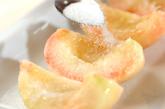 焼き桃アイスの作り方1