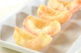 焼き桃アイスの下準備1