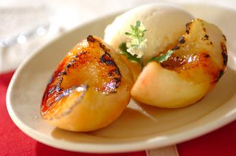 焼き桃アイス