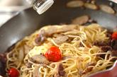 牛肉とゴボウのパスタの作り方3