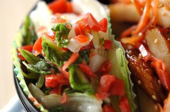 白菜とカリカリ梅のサラダ