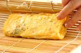 紅ショウガ入りだし巻き卵の作り方3