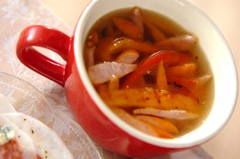 パプリカのくったりスープ