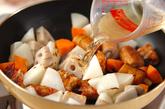 根菜と揚げ天の炒め煮の作り方3