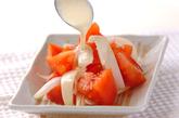 トマト&新玉ネギサラダの作り方1