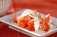 トマト&新玉ネギサラダ
