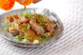 豚肉とザーサイの炒め物の作り方2