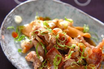 豚肉とザーサイの炒め物