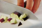 ナスとシメジのみそチーズおやきの下準備1
