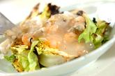 焼き春キャベツの海鮮あんの作り方3