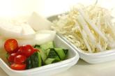 梨と白菜のサラダの下準備1