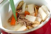 野菜たっぷりゴマみそスープの作り方2