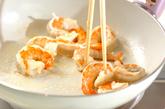 エビと豆腐のチリソースの作り方1