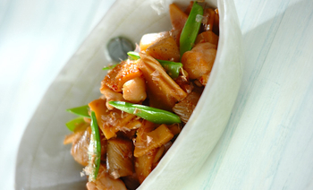 タケノコと鶏の土佐煮風